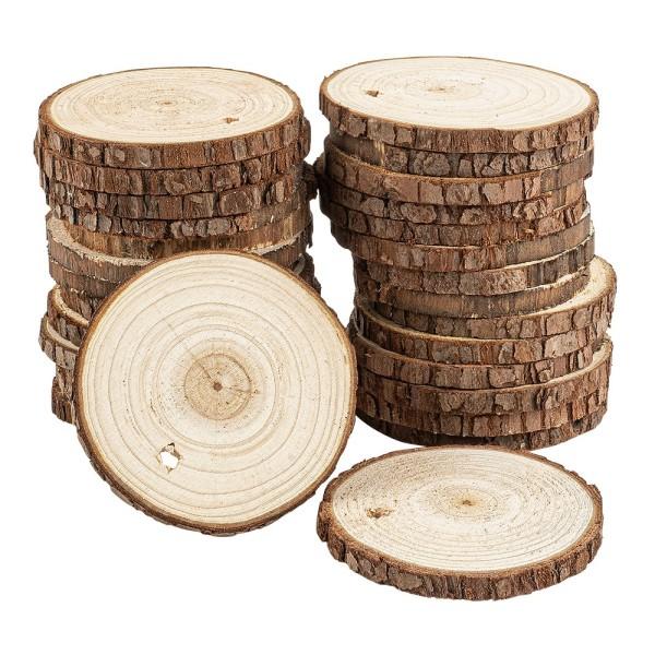 Baumscheiben, Ø 6cm bis 7cm, 0,6cm stark, 30 Stück