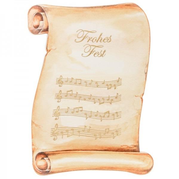 """Schriftrollen-Doppelkarten """"Frohes Fest"""" + Umschläge, 10 Stück"""