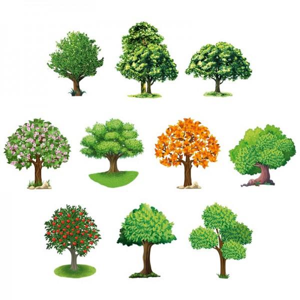 3-D Motive, Bäume, 6-8,5cm, 10 Motive