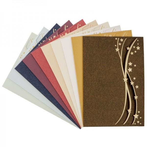 """Deluxe-Grußkarten """"Luna"""", B6, 10 Stück, inkl. Umschläge"""