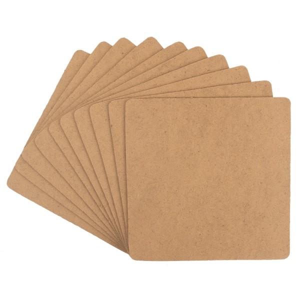 Kreativ-Platten, quadratisch, 14cm x 14cm, Stärke: 2mm, 10 Stück