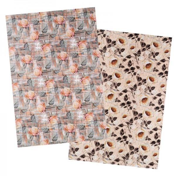 Reispapiere, Blüten 28, DIN A4, 30g/m², 2 Designs