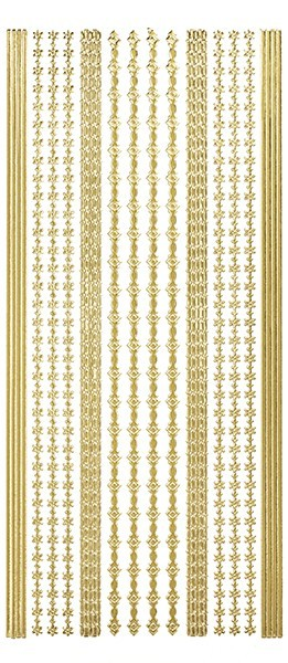 Sticker, Linien und Bordüren, gold