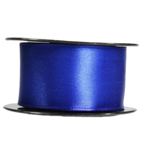 Satin-Schleifenband mit Drahtkante, 39mm x 10m, dunkelblau