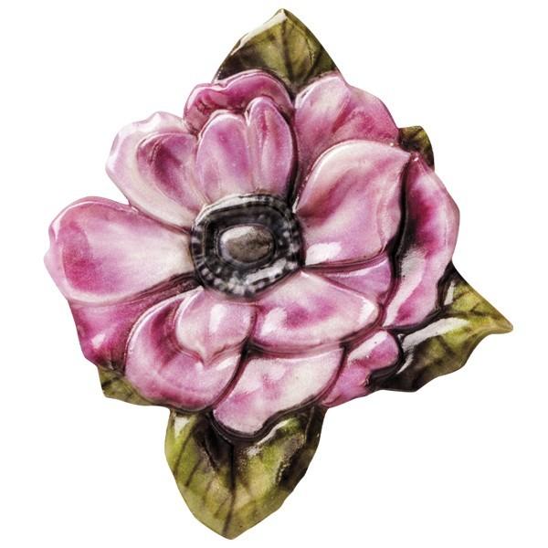 "Wachsornament ""Blüten de luxe"" 2, farbig, geprägt, 6-7cm"