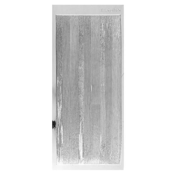 Sticker, schmale Linien, in 3 Breiten, Spiegelfolie silber