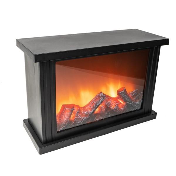 LED-Kamin, 30cm x 11,5cm x 20cm, mit Flammeneffekt, mit Timerfunktion