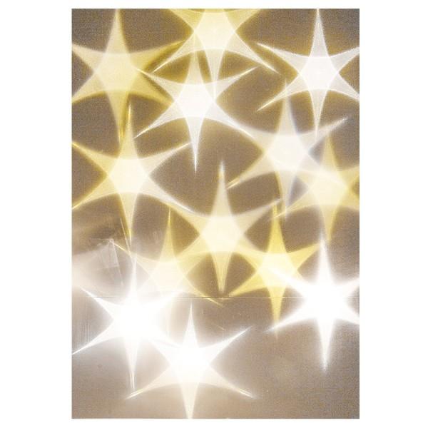 Lichteffekt-Folie, Stern, Din A5, 10 Stück
