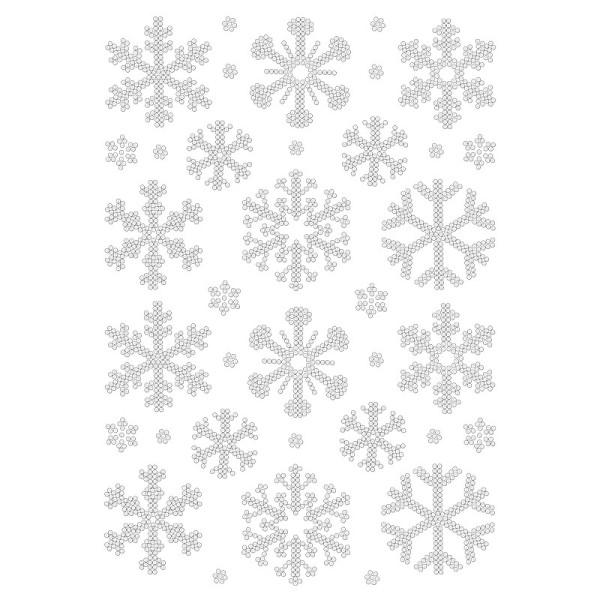 Bügelstrass-Design, DIN A4, klar, Eiskristalle