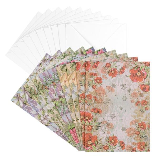Motiv-Grußkarten, Winterzeit 2, B6, 230 g/m³, 5 Designs, inkl. weißen Umschlägen, 10 Stück