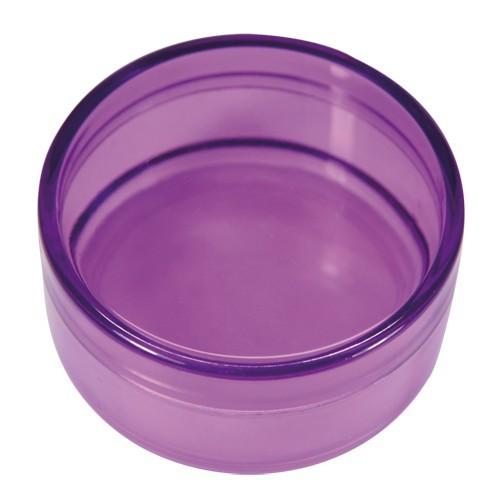 Acryl-Rund-Dosen, Ø6,3 cm, 3 cm hoch, 2 Stück, violett