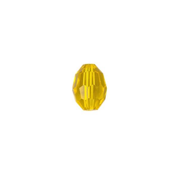 Perlen, Ovale, facettiert, 0,6cm x 0,8cm, goldgelb, 30 Stück