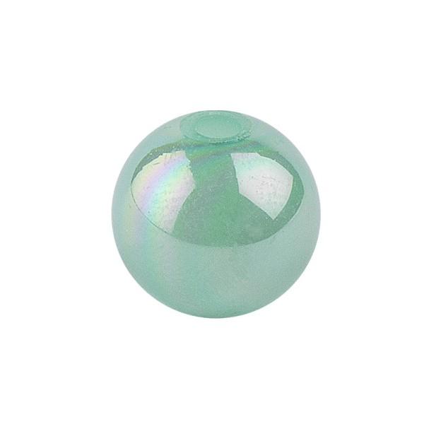 Glas-Perlen, irisierend, Ø 6mm, grün-irisierend, 150 Stk.