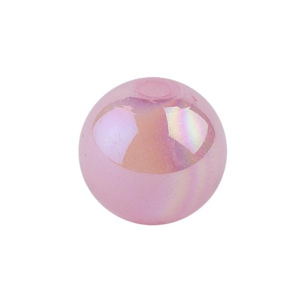 Perlen, irisierend, Ø 6mm, rosa-irisierend, 150 Stk.