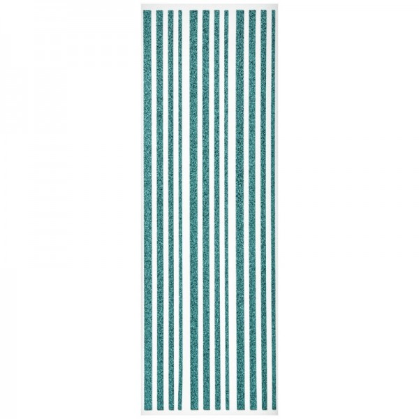 Glitzer-Bordüren, Sticker-Linien, 30 cm lang, 3-6 mm, türkis