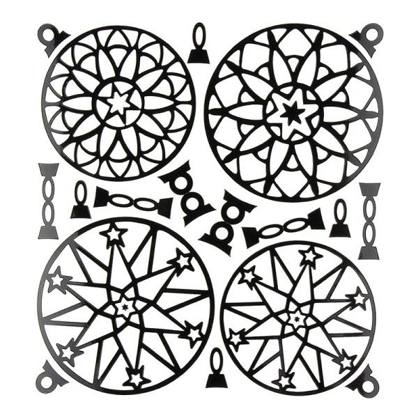 Kugel-Sticker, Weihnachten, Design 5, 23cm x 20cm, schwarz