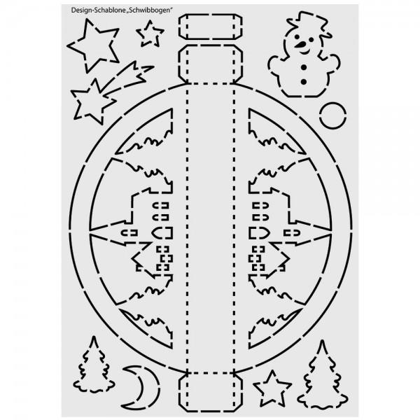 Design-Schablone, Schwibbogen, DIN A3