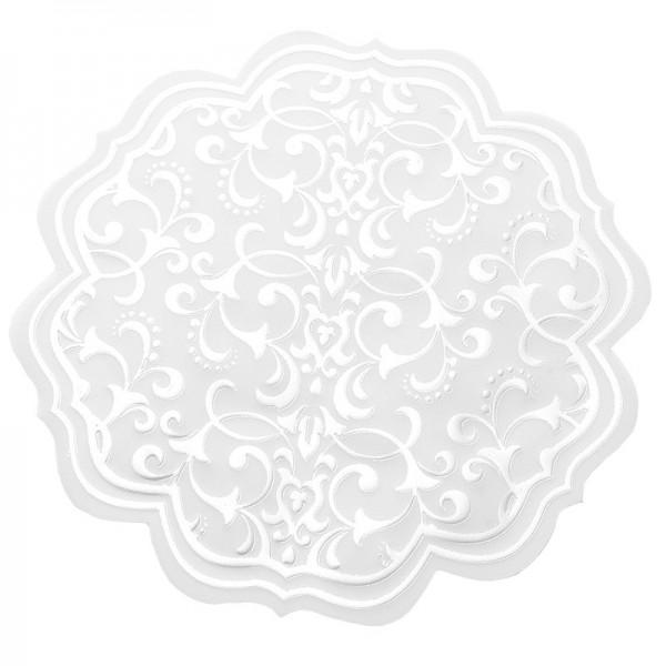 Noblesse Zierdeckchen rund, Transparentpapier, Ø 13cm, weiß, 20 Stück
