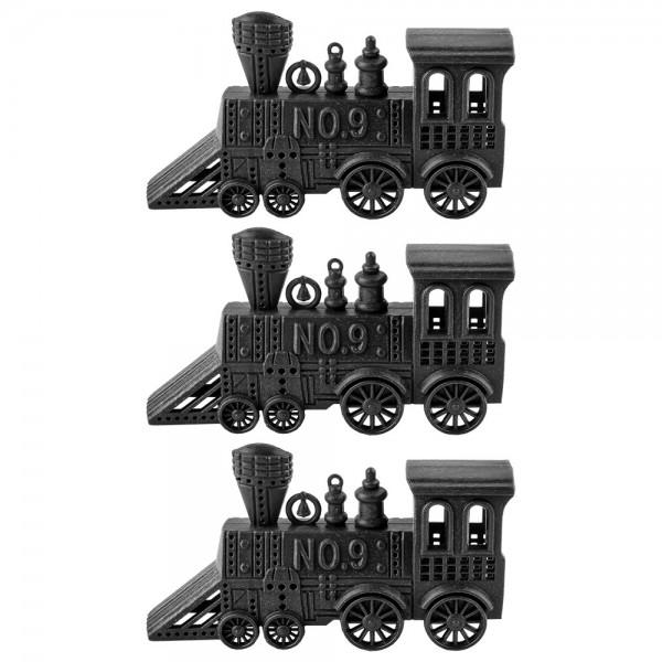 Deko-Lokomotiven, Rohlinge, 12cm x 6cm x 3cm, 3 Stück