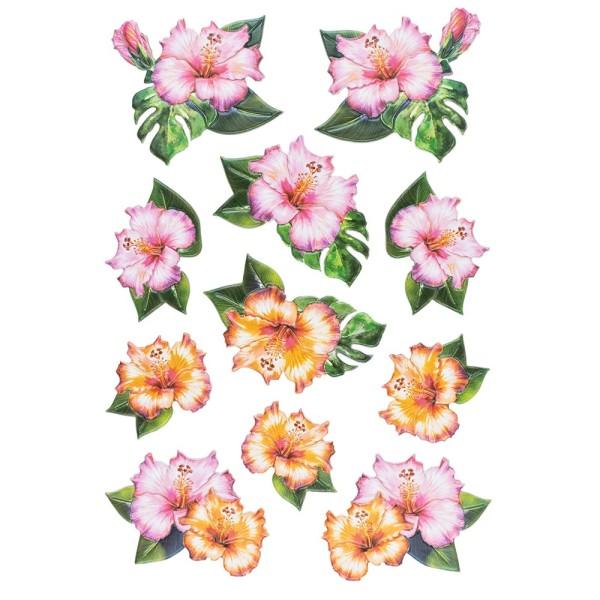3-D Relief-Sticker, Blumen & Schmetterlinge 2, 21cm x 30cm, verschiedene Größen, selbstklebend