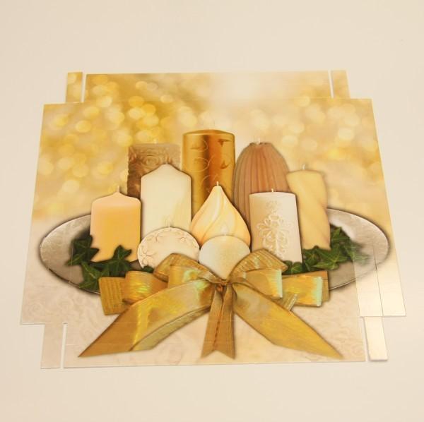 Deko-Lichteffekt-Bild, Kerzen, 25 x 25 cm