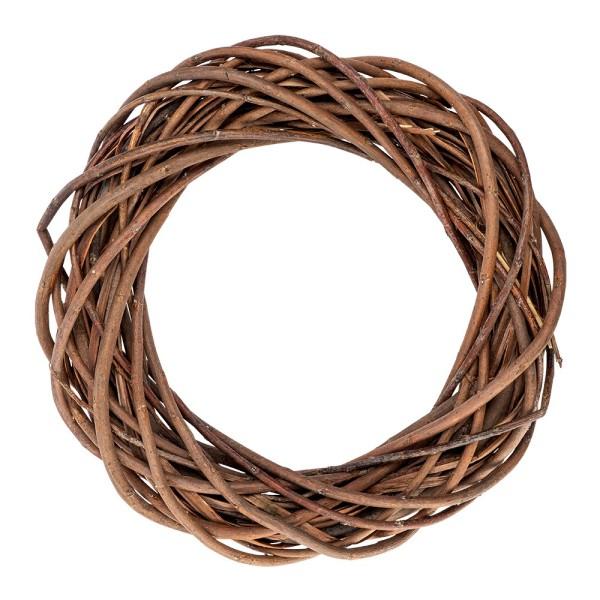 Deko-Kranz, Weide, Ø 30cm, 6cm hoch, dunkelbraune Zweige