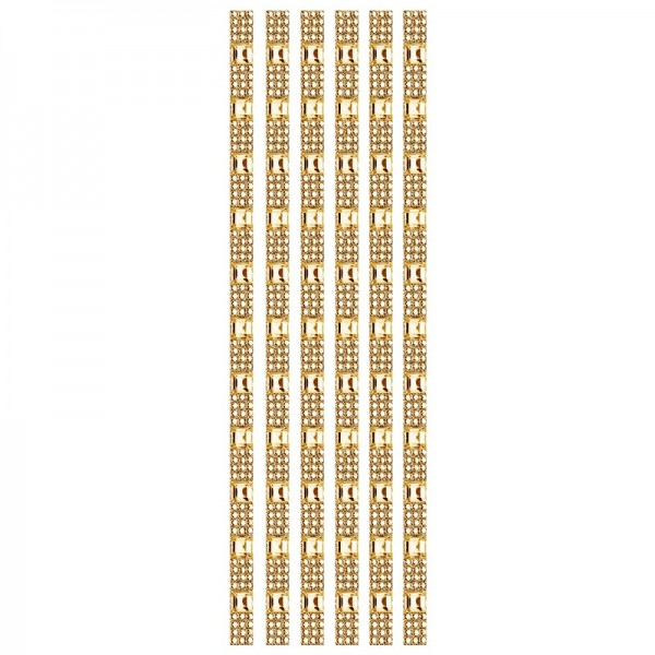 Royal-Schmuck, 6 selbstklebende Bordüren, 29 cm, champagner
