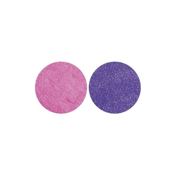 Stoffkreise für Knöpfe mit 22 mm Ø, fuchsia/violett, 50er Set