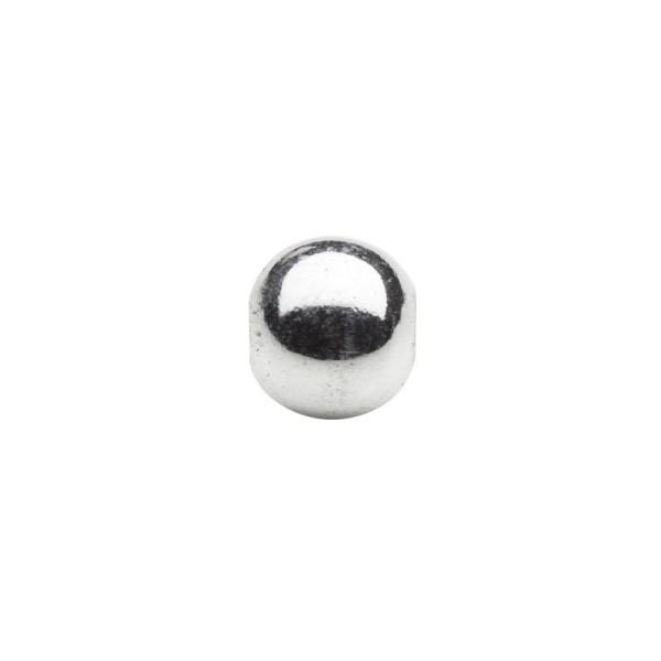 Metallic-Perlen, Ø6 mm, 50 Stück, silberfarben