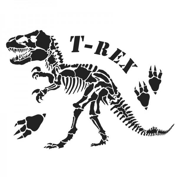 Laser-Kunststoff-Schablone, DIN A4, T-Rex