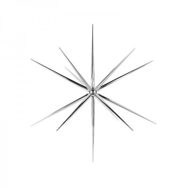 3-D Steckstern, Ø 24cm, 14-strahlig, inkl. Öse zum Aufhängen, silber