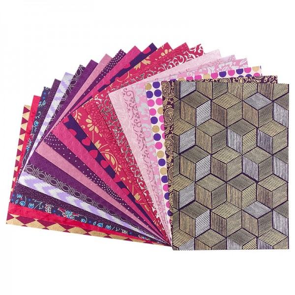 "Naturpapier Colours of India ""Punjab"", DIN A4, rosa/violett, 20 Blatt"