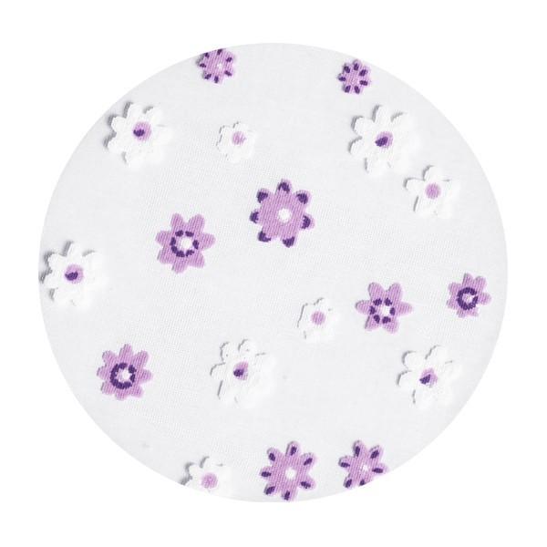Organza-Kreise, Ø6cm, 50 Stück, Kleine Blüten, violett/weiß
