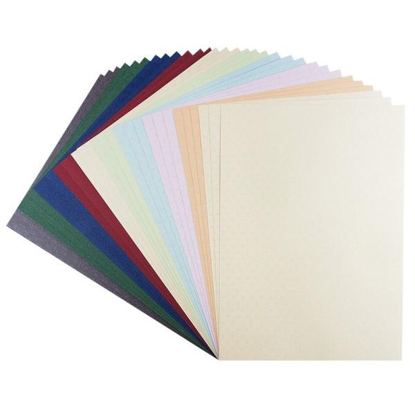 """Präge-Karton """"Wien"""", DIN A4, 9 verschiedene Farben, 30 Bogen"""