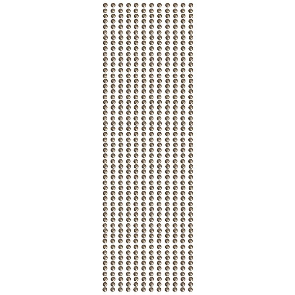 Glitzerstein-Bordüren, selbstklebend, Ø4mm, 29cm, 12 Stk., dunkelbraun