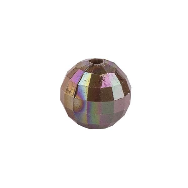 Perlen, facettiert, Ø 6mm, taupe-irisierend, 150 Stk.