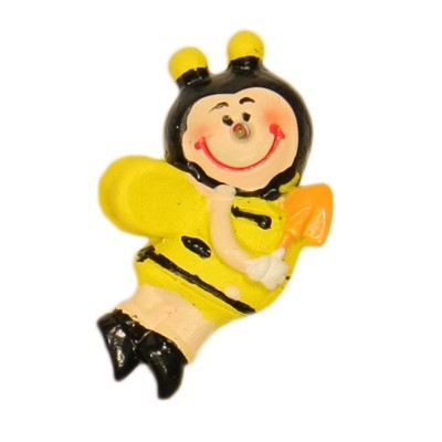 Relief-Bienen, 3 x 2 cm, 10er Set