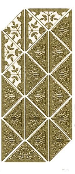 """Microglitter-Sticker Eckornamente """"Blätter"""", gold"""