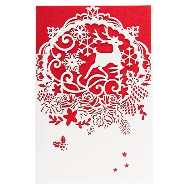 """Laser-Grußkarte """"Weihnachten 1"""", 12x18cm, mit Einleger & Umschlag"""