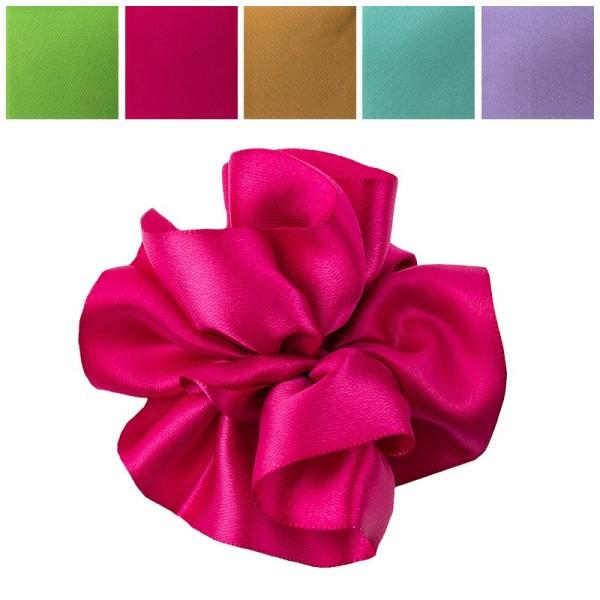 Zieh-Rüschenband, Satin, Pastell-Farben, 0,9m x 3cm, 10 Stück