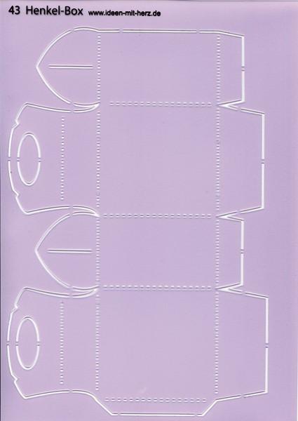 """Design-Schablone Nr. 43 """"Henkel-Box"""", DIN A4"""