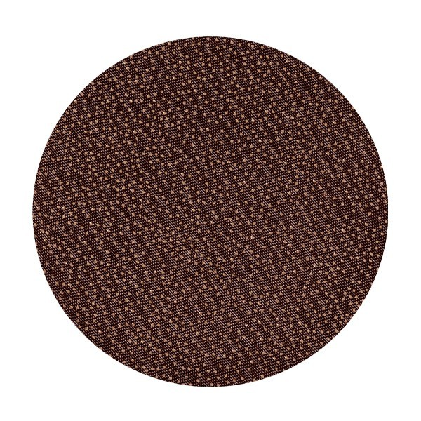 Satin-Kreise, Ø6cm, 50 Stück, Folien-Print-Punkte, mocca