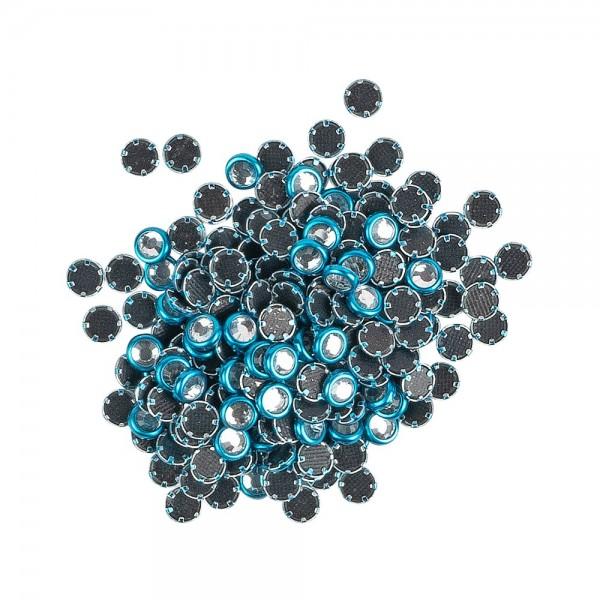 Hot-Fix Glas-Kristalle zum Aufbügeln, Ø 4mm, türkis, 200 Stück