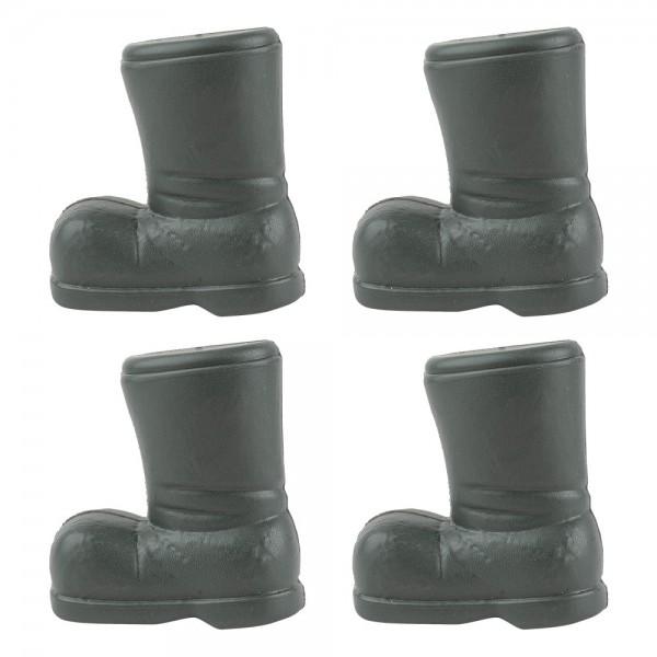 Deko-Stiefel 1, Rohlinge, 7cm x 6,5cm x 4cm, 4 Stück