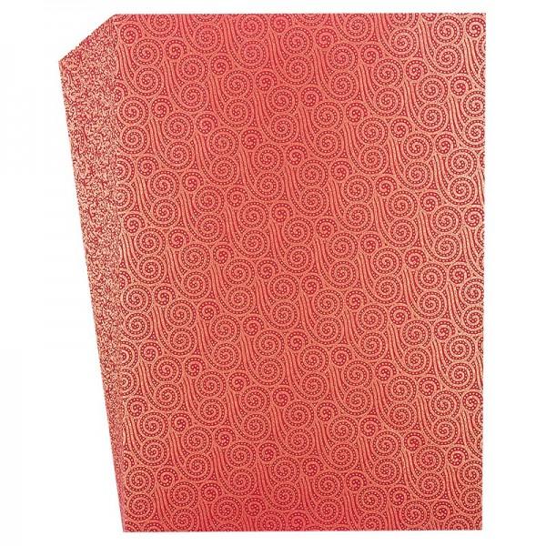 """Faltpapiere """"Nova 1"""", DIN A5, 50 Stück, rot-gold"""