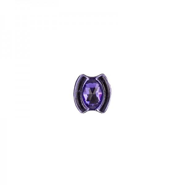 Ornament-Glitzersteine, 50 Stück, Design 10, lila