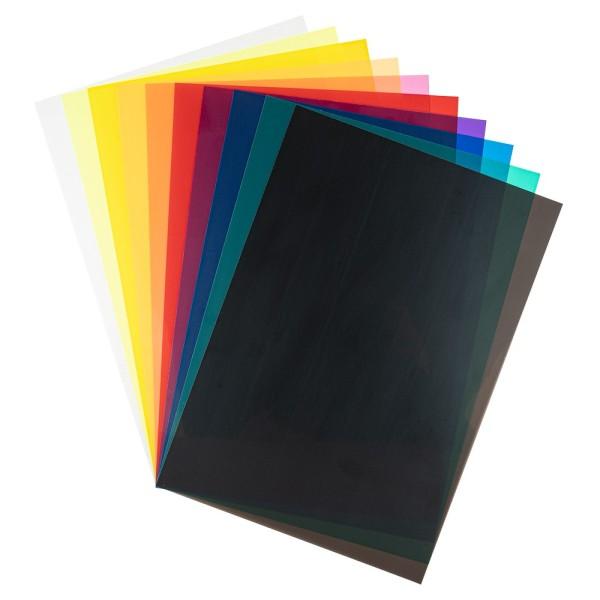 Windradfolien, DIN A4, 250µ, verschiedene Farben, 10 Bogen