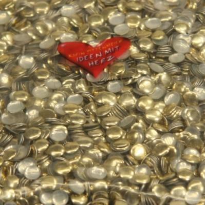 Bügel-Alu-Nieten, Ø4 mm, gold, ca. 3000 Stück