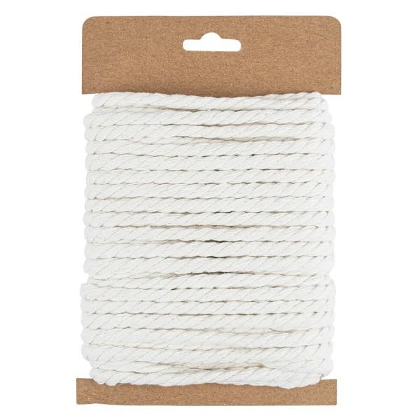 Baumwoll-Schnur, Ø 4,5mm, 10m lang, naturweiß