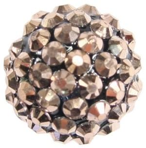 Kristall-Perlen, Ø18 mm, 5 Stück, bronze-irisierend